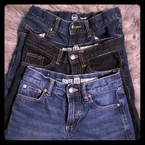 3 pairs of boys jeans GUC size 8 adjustable waist